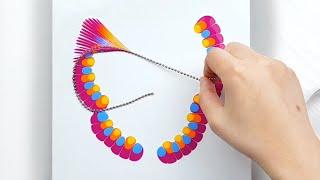 Designer Gemma77 - (282) Chain pull technique _ New style butterfly _ Fluid Acrylic Pouring _ Designer Gemma77 - VIDEOOO