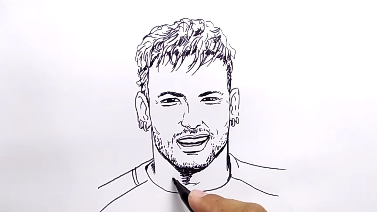Very Easy How To Draw Neymar No Pencil No Eraser Tutorial