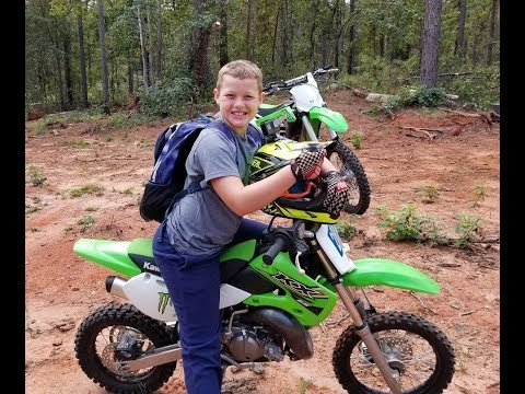 Dirt bikes, fishing, haunted house found in the woods with grave!!!