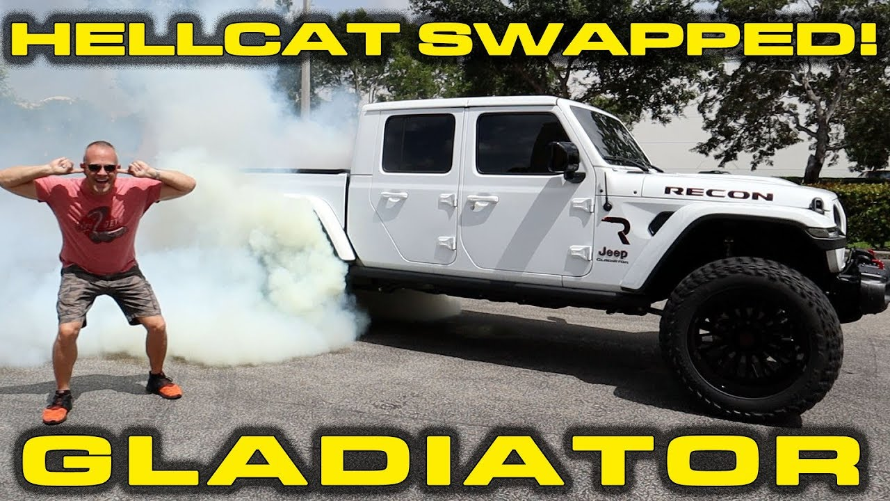 $100k HELLCAT SWAPPED GLADIATOR * 750+ HP RECON Jeep ...