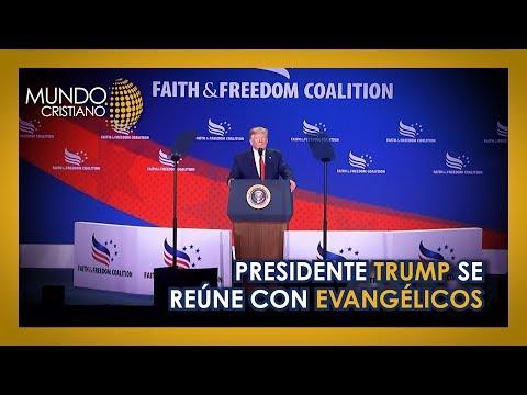 Presidente Trump se reúne con evangélicos