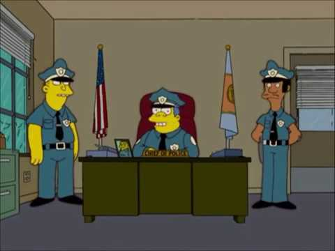 The simpsons how chief wiggum became the chief of the police youtube - Police simpsons ...