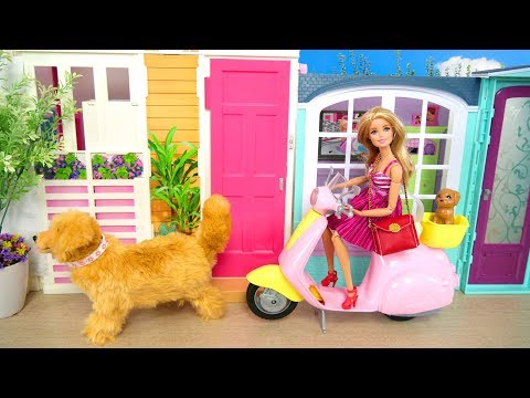 Barbie doll House Pink Passport 3 Story Townhouse Morning Rumah Barbie Pagi Casa de Barbie Manhã