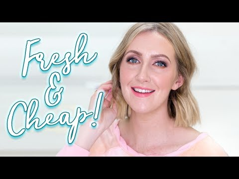 AFFORDABLE FRESH MAKEUP TUTORIAL  Drugstore & Online Brands   Sharon Farrell