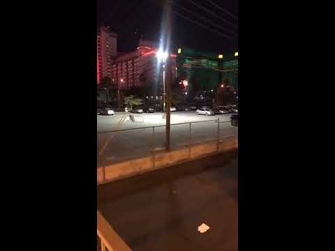 Las Vegas Shooting Street Footage with Police Scanner Audio  I WAS THERE