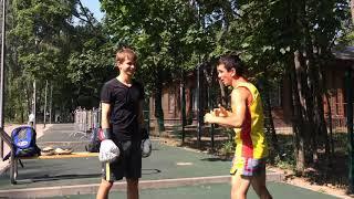 Видео урок двоечка уклон правый прямо , Клуб тайского бокса Даймонд