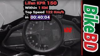 Lifan KPR 150 Top Speed & Details