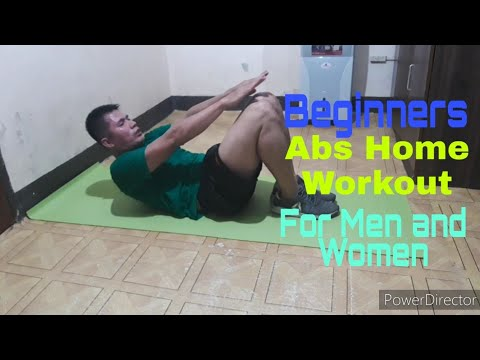 beginners abs home workout for men and women  16   youtube