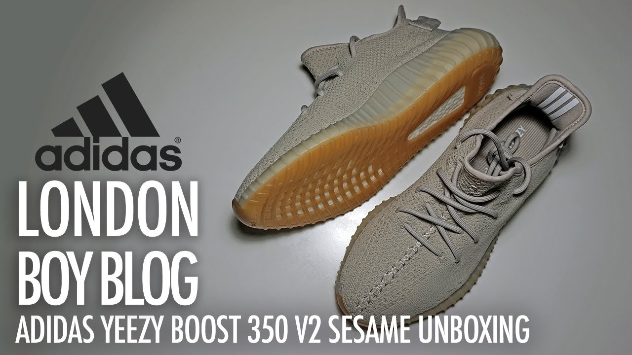5d31855ea Adidas YEEZY BOOST 350 V2 Sesame Unboxing - YouTube