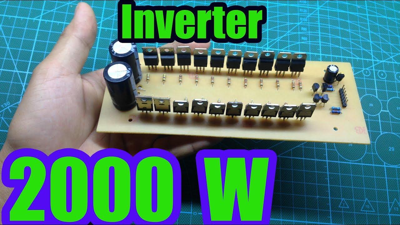 [DIAGRAM_38YU]  Make 2000W inverter sine use 20 mosfet - YouTube | 2000 W Inverter Circuit Diagram |  | YouTube