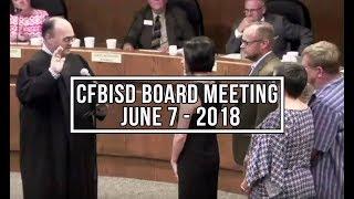 CFBISD Board Meeting | June 7, 2018