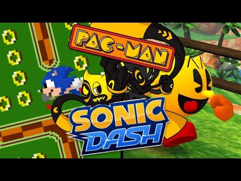 ANOTHER UNUSUAL CROSSOVER... | Sonic Dash and PAC-MAN
