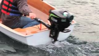 PT11 with outboard test drive