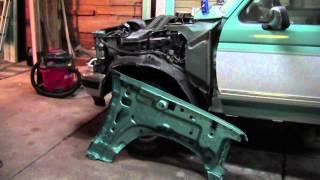 1994 F150 Restoration #21 - Got Hood and Fenders Painted!!