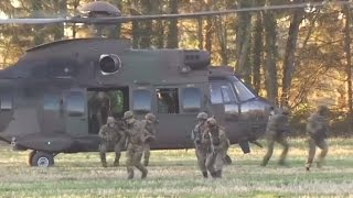 RAW  EU states hold joint military exercise in Belgium
