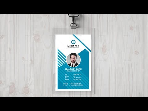 How to Design Company ID Card - Photoshop Tutorial