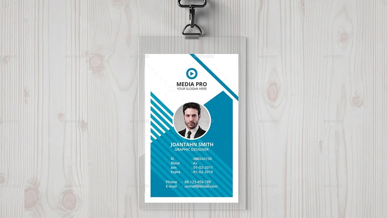 Id Card Company Design