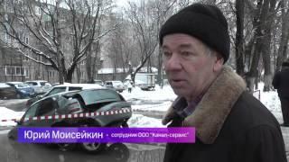 В Жуковском иномарка провалилась под асфальт