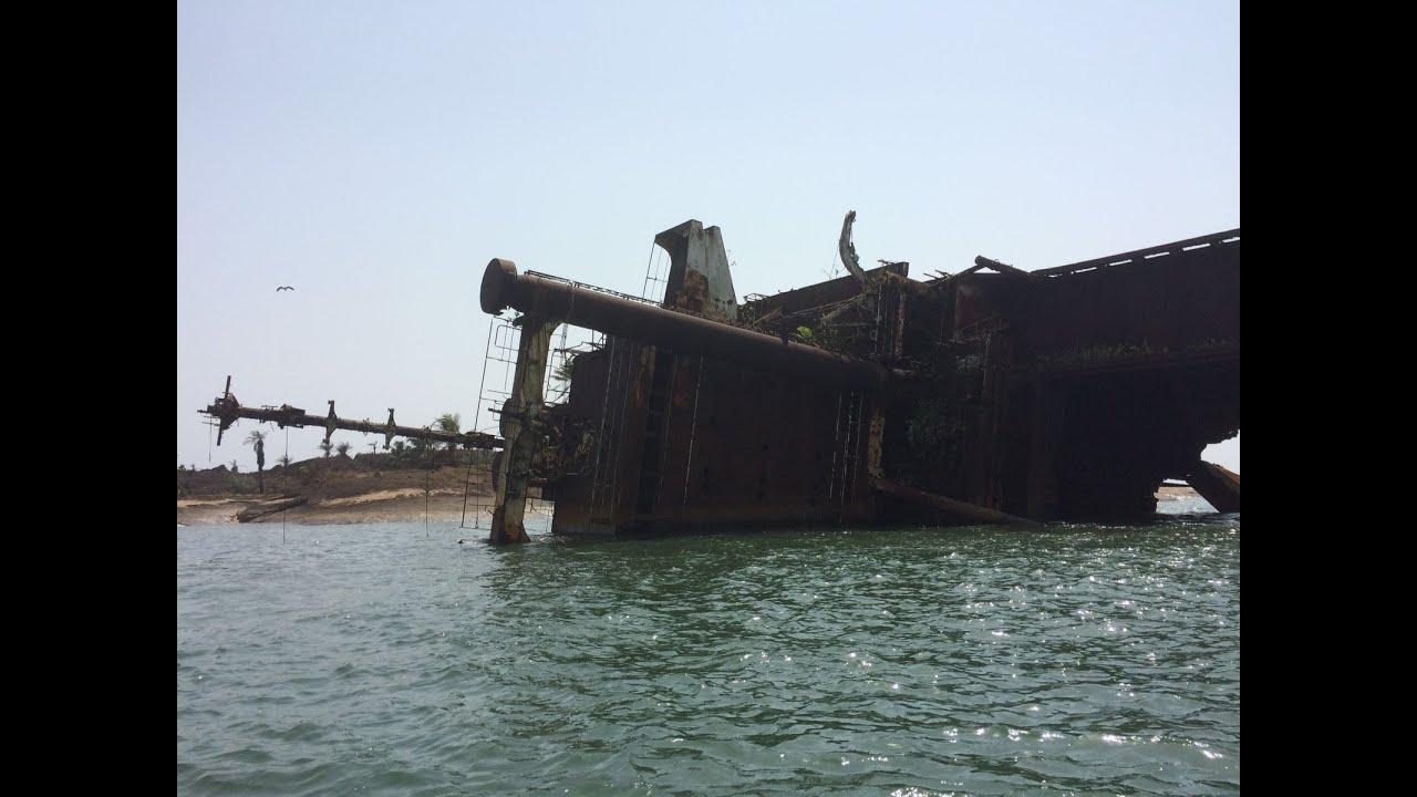 shipwrecks in greenville liberia - YouTube