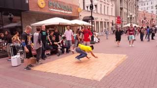 МЫ В МОСВЕ ( ТОТ еще Брейк Батл) Kazakhstan B-BOY in Moskow Russia BRACKE DANCE