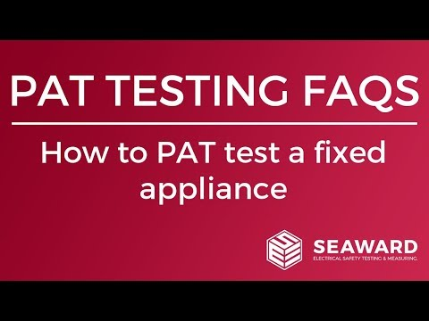 How to PAT test a fixed appliance - Seaward