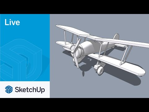 Modeling a Wooden Airplane with Tyson, Live!