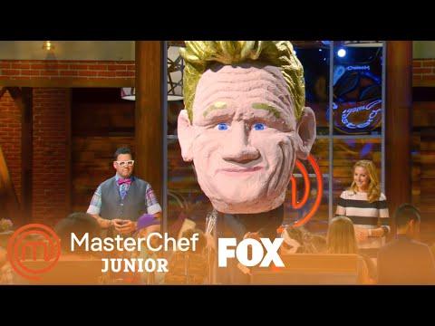 Gordon's Pinata Head | Season 4 Ep. 1 | MASTERCHEF JUNIOR
