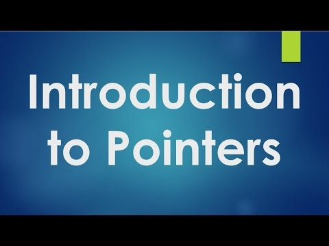 C Programming - 31 - Introduction to Pointers