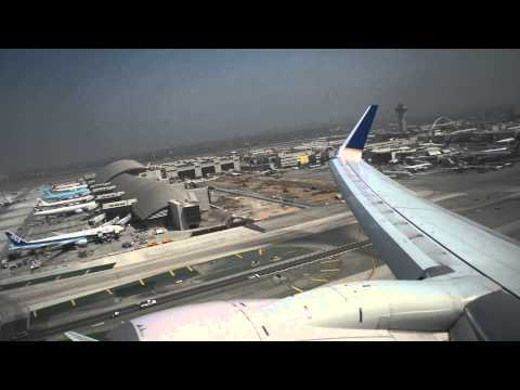 [HD] United 737-824 ETOPS MAX T/O weight departure from LAX on 25R