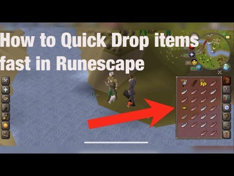 How to Quick Drop Items Fast in Runescape OSRS Mobile