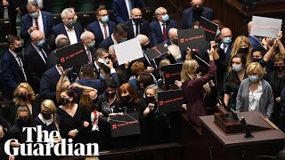 'This is war': opposition politicians in Poland take abortion protests to parliament