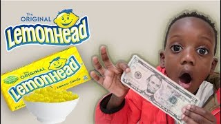 First To Eat All LEMONHEAD Wins $$$$ Challenge!