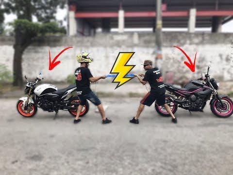 CABO DE GUERRA COM AS MOTOS HORNET VS XJ6 ? DIOGO 305