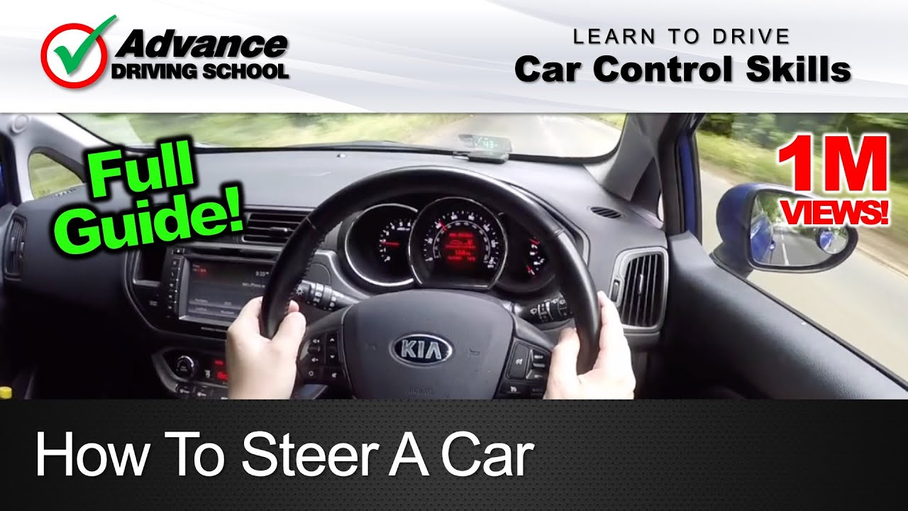 How To Steer A Car Learning Drive Control Skills