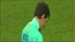 Messi funny penalty: yellow carded!!