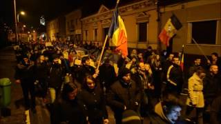 5.000 de orădeni au protestat şi sâmbătă seara împotriva Guvernului PSD ALDE