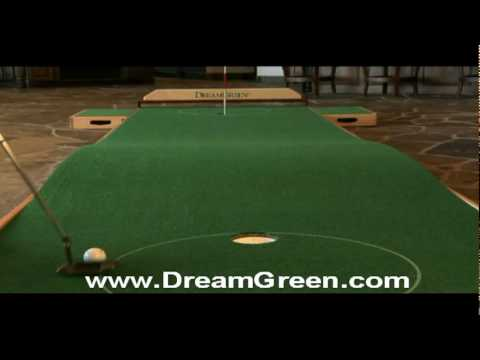 Using a DreamGreen Indoor Putting Green - YouTube