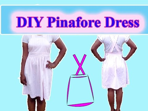 DIY clothes - Pinafore dress tutorial -//Remakes - YouTube
