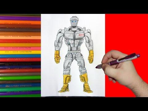 How To Draw Robot ATOM, Real Steel, Как нарисовать робота Атома