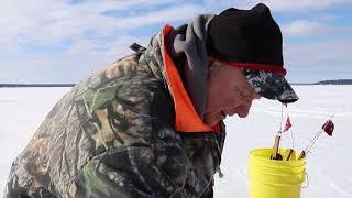 Burt Lake ice fishing, walleye recipe Michigan Out of Doors TV #1808