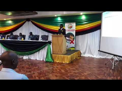 Minister Jorum Gumbo addressing driving schools and VID on corruption