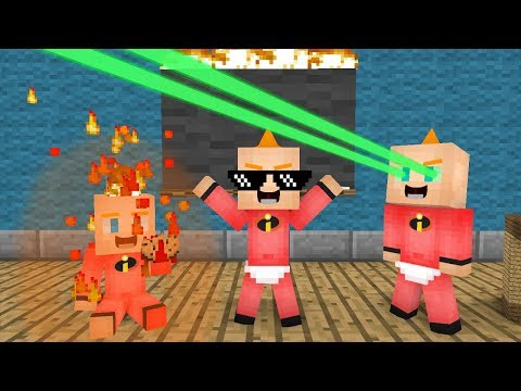 Monster School: Jack-Jack Baby - The Incredibles 2 - Minecraft Animation
