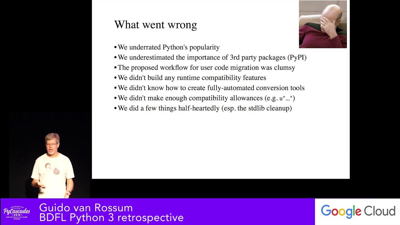 Image from BDFL Python 3 retrospective