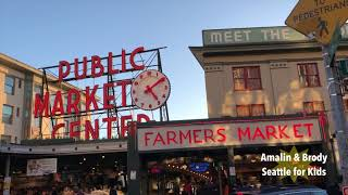 Pike Place Market With Kids - Best Children Activities in Seattle [4K]