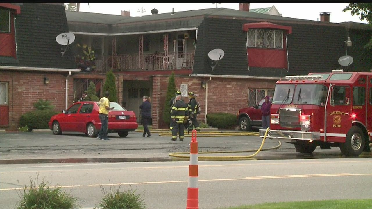 Liberty Township apartment building catches fire