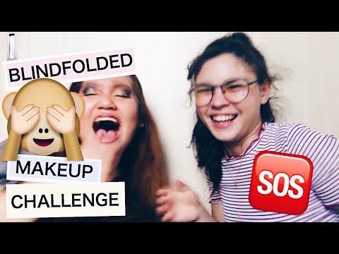BLINDFOLDED MAKEUP CHALLENGE ft. Ashley Colet philippines  Karla Domingo