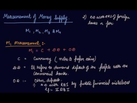 Measurement of Money Supply | Class 12 Macroeconomics Money and Banking