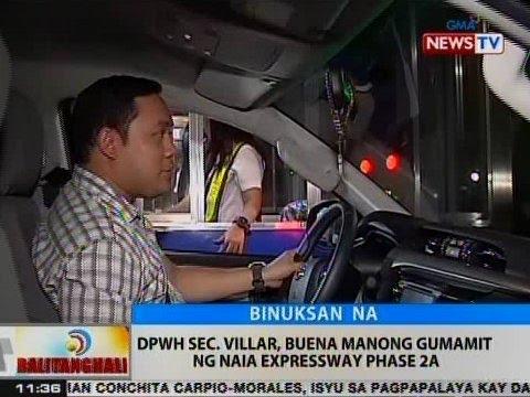 BT: DPWH Sec. Mark Villar, buena manong gumamit ng NAIA Expressway Phase 2A