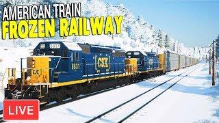 LIVE -  SNOWY LONG HAUL OF AMERICAN CARGO | Train Sim World Gameplay