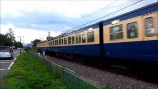 大糸線にスカ色入線、臨時快速「懐かしの115系横須賀色」運転。(復路 穂高駅出発)